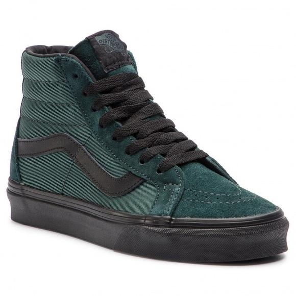 Vans Sk8 hi Reissue Metallic Twill Darkest Green NWT